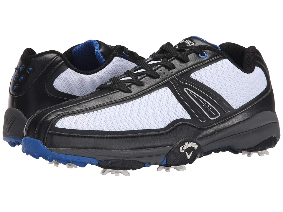 Callaway - Chev Aero II (White/Black/Blue) Men's Golf Shoes