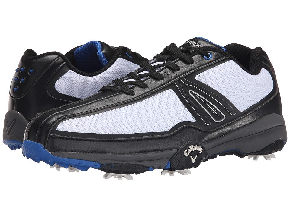 Callaway - Chev Aero II (White/Black/Blue) Men's Golf Shoes