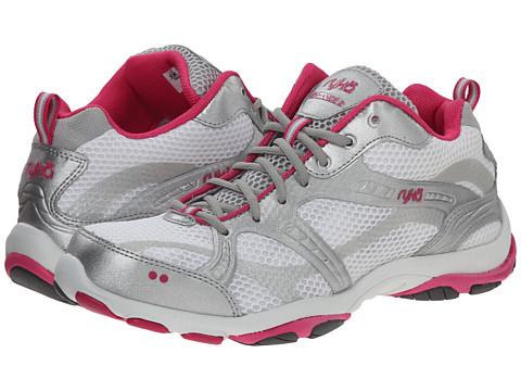 Ryka - Enhance 2 (White/Silver/Pink/Grey) Women