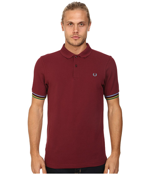Fred Perry - Champion Tipped Shirt (Port) Men's Short Sleeve Knit