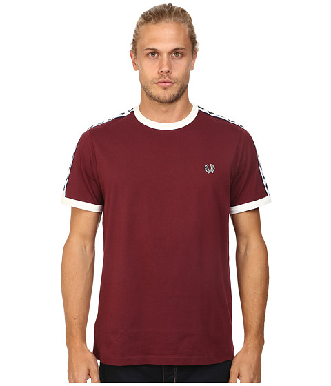 Fred Perry - Taped Ringer T-Shirt (Port) Men's T Shirt
