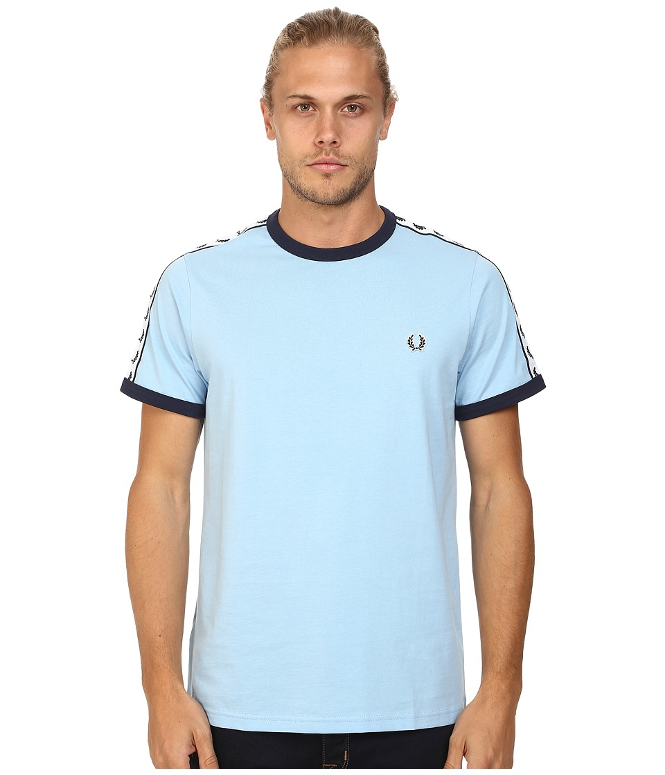 Fred Perry - Taped Ringer T-Shirt (Glacier) Men's T Shirt