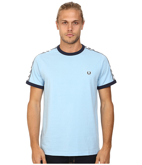 Fred Perry - Taped Ringer T-Shirt (Glacier) Men