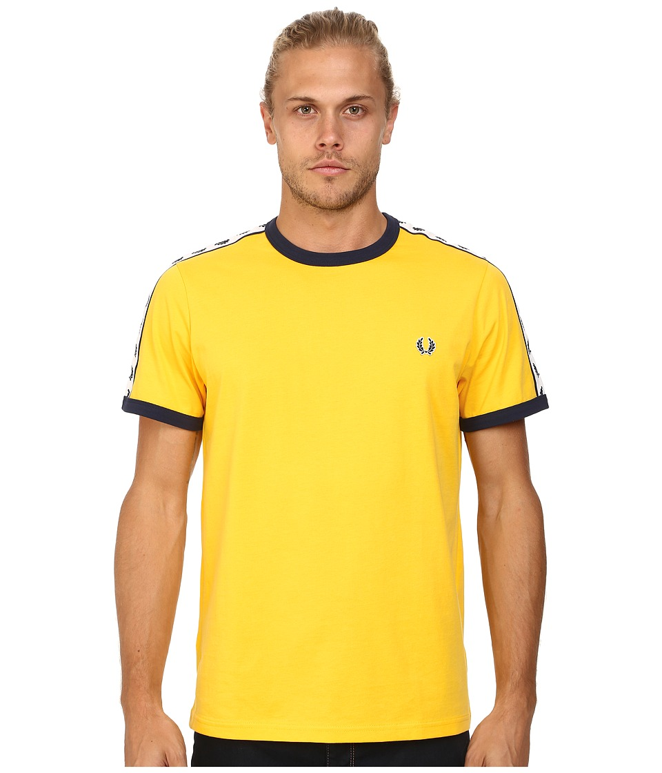 Fred Perry - Taped Ringer T-Shirt (Bright Yellow) Men's T Shirt