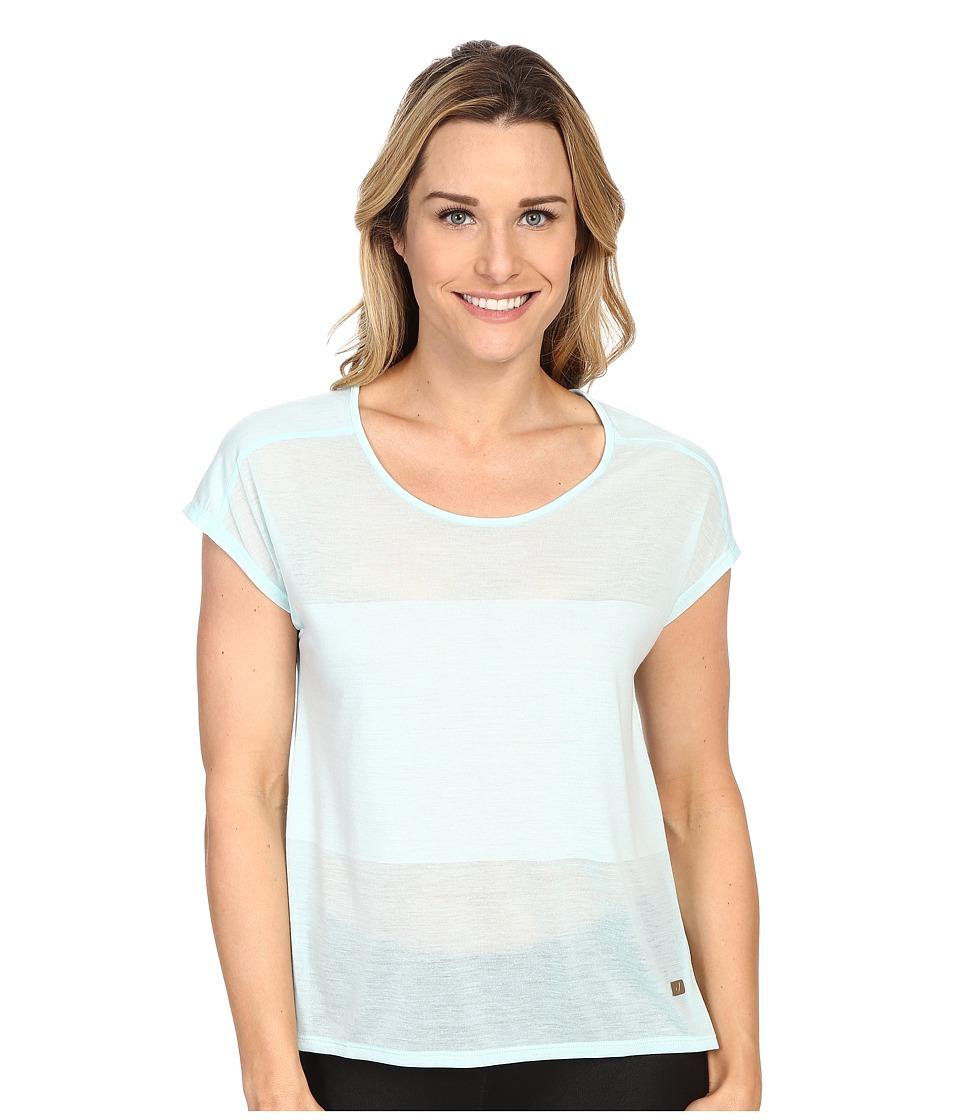ASICS - Burnout Short Sleeve Top (Crystal Blue) Women's Short Sleeve Pullover