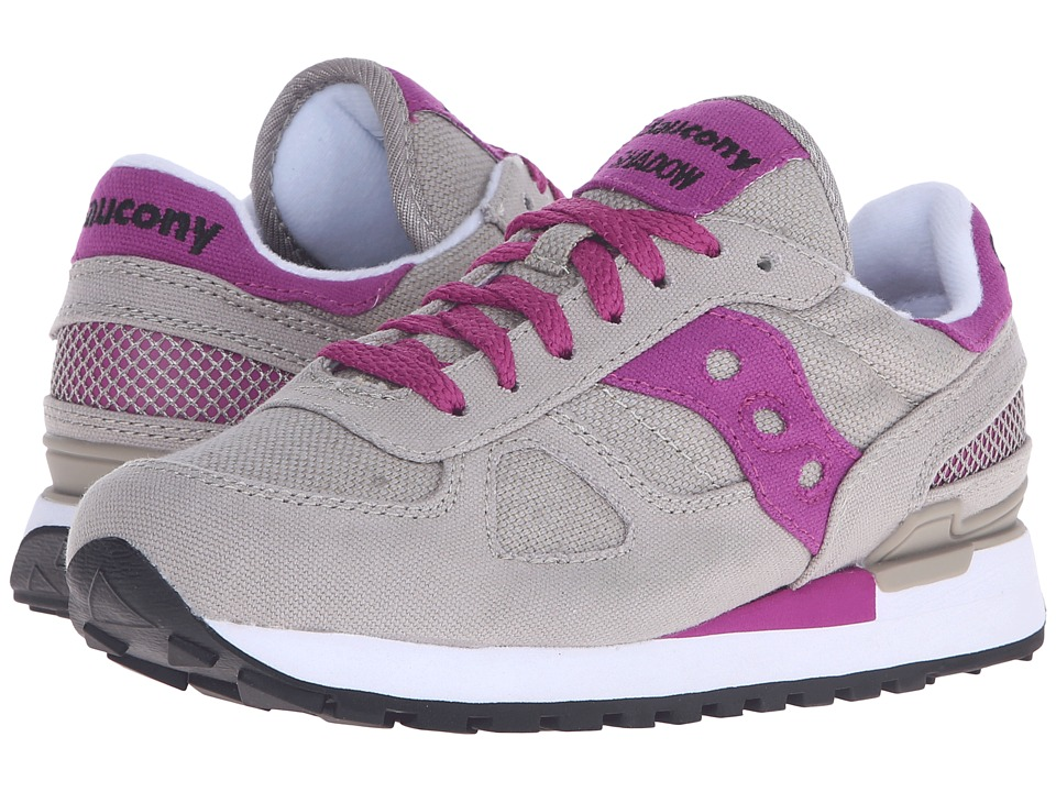 Saucony Originals - Shadow Vegan (Light Grey/Fuchsia) Women's Classic Shoes