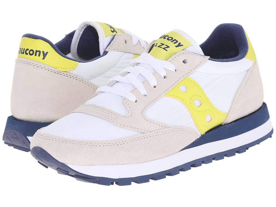 Saucony Originals - Jazz Original (White/Yellow) Women's Classic Shoes