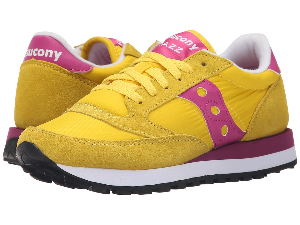 Saucony Originals - Jazz Original (Yellow/Berry) Women's Classic Shoes