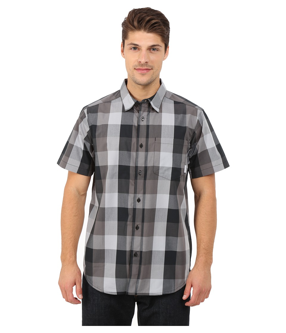 Columbia - Hyco Creek EXS Shirt (Black) Men's Short Sleeve Button Up