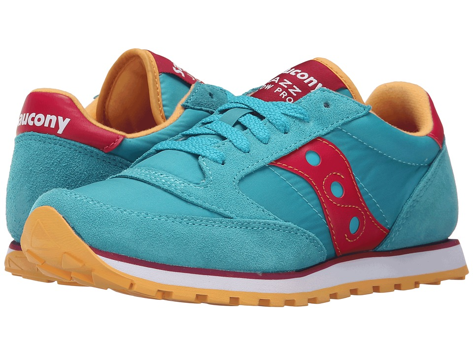 Saucony Originals - Jazz Low Pro (Peacock Blue/Red) Women's Classic Shoes