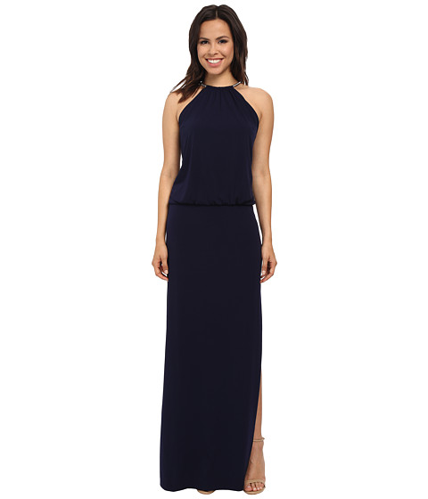 Jessica Simpson - Bungee Necklace Ity Maxi Dress (Navy) Women's Dress