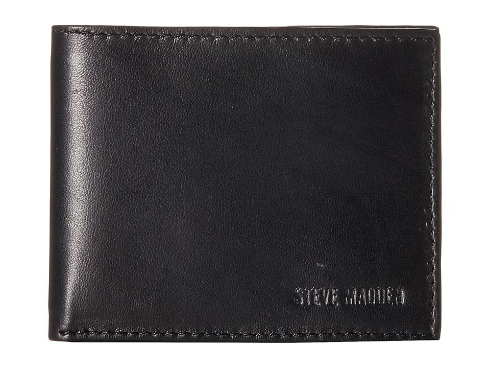 Steve Madden - Smooth Glove Slimfold (Black) Bags