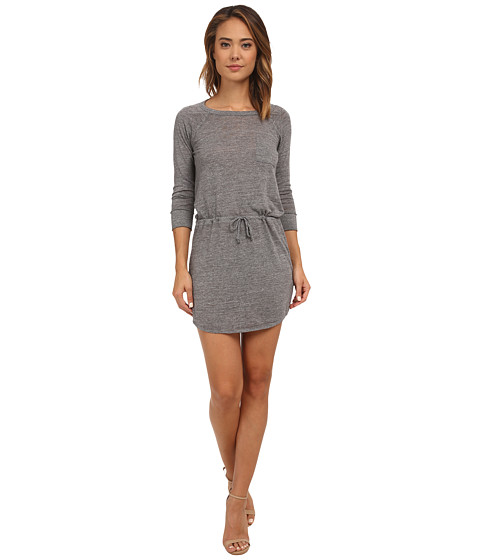 Chaser - Drape Back Shirttail Pocket Dress (Streaky Grey) Women's Dress
