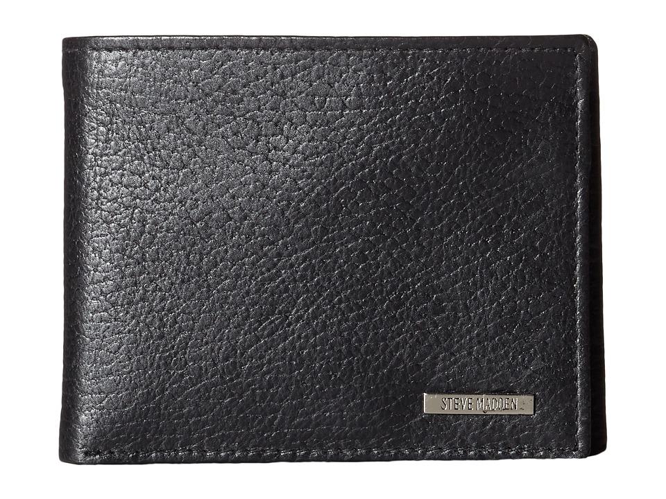 Steve Madden - Pebble Grain Passcase (Black) Bags