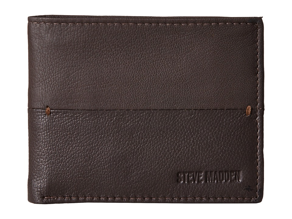 Steve Madden - Contrast Stitch Passcase (Brown) Bags
