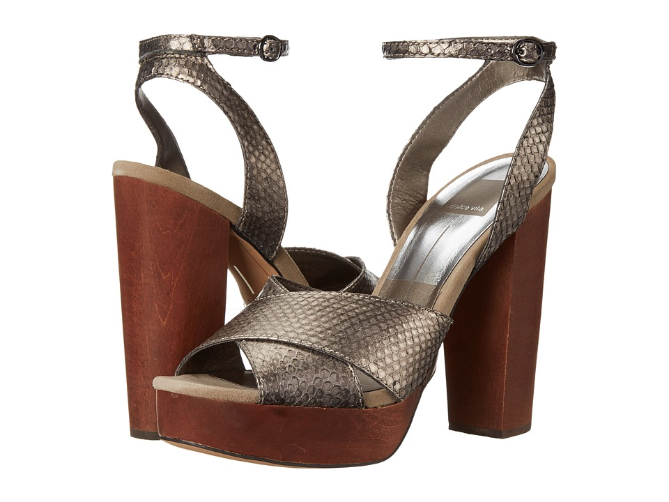 Dolce Vita Callista (Pewter Snake Leather) Women