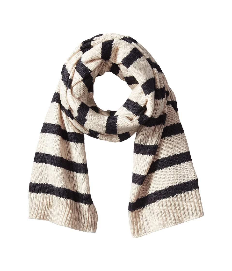 Hat Attack - Stripe Scarf (Wheat/Navy) Scarves