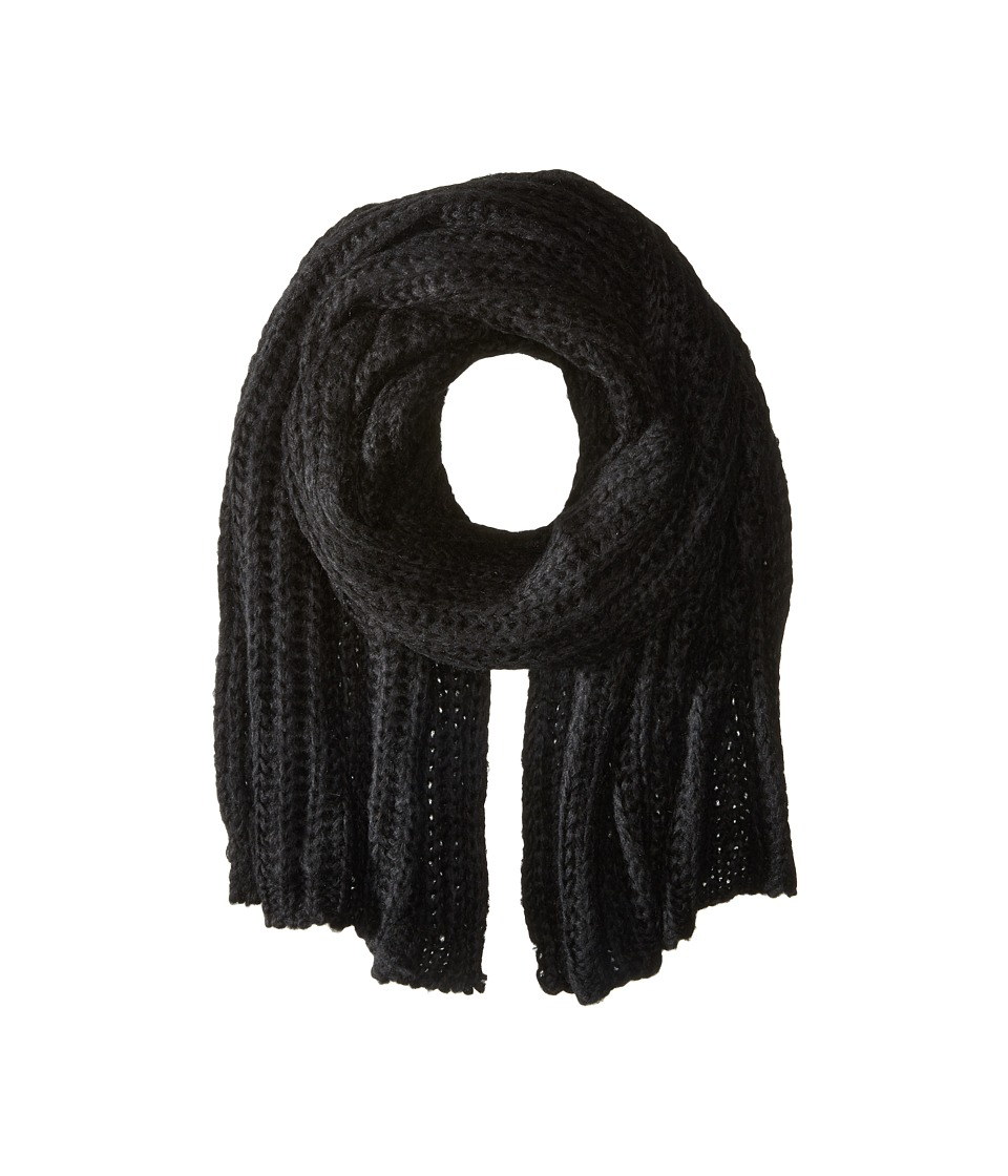 Hat Attack - Rib Scarf (Black) Scarves