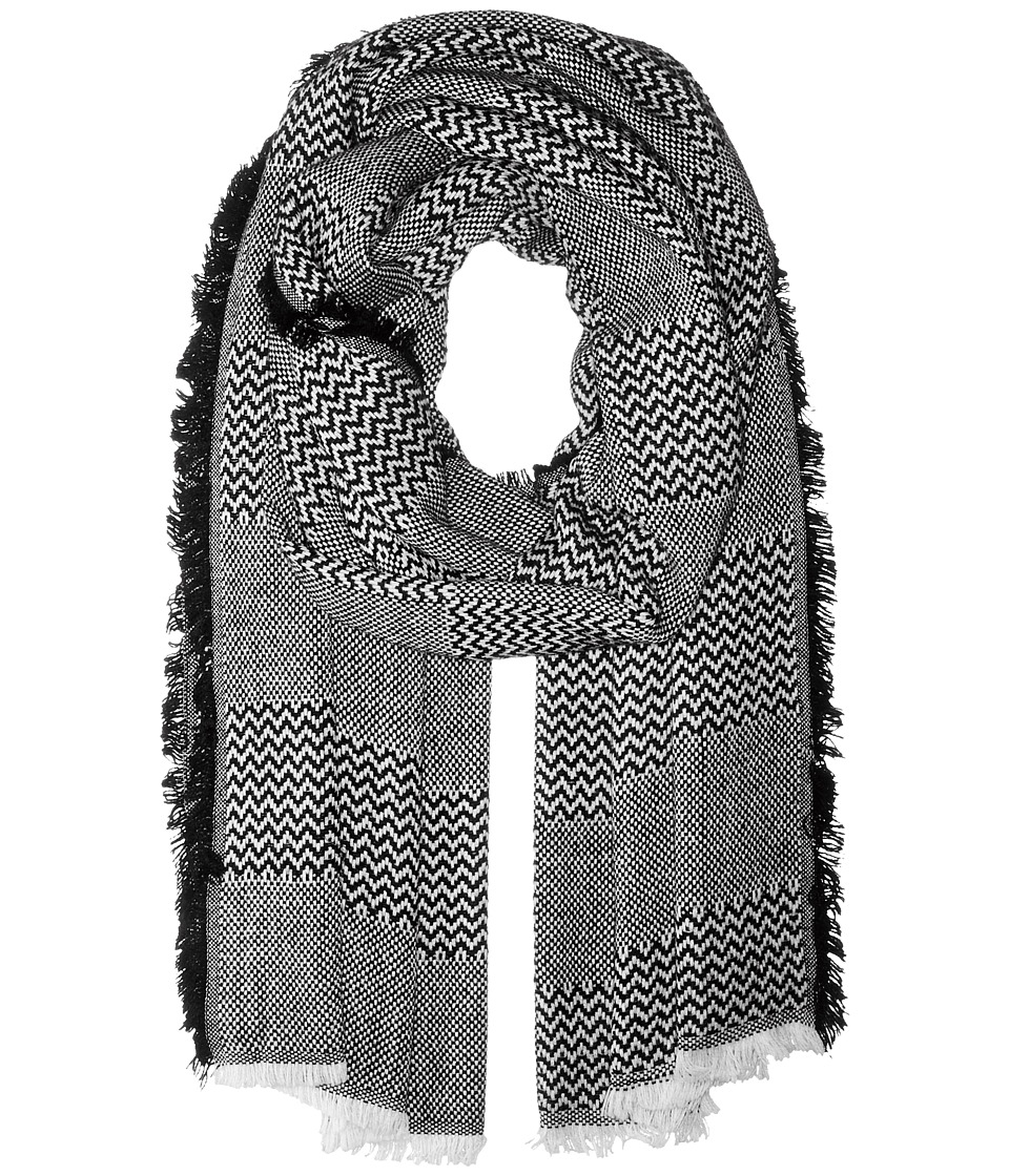 Hat Attack - Patchwork Pattern Scarf (White) Scarves