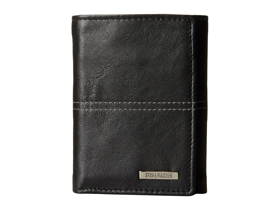 Steve Madden - Center Stitch Trifold (Black) Bags