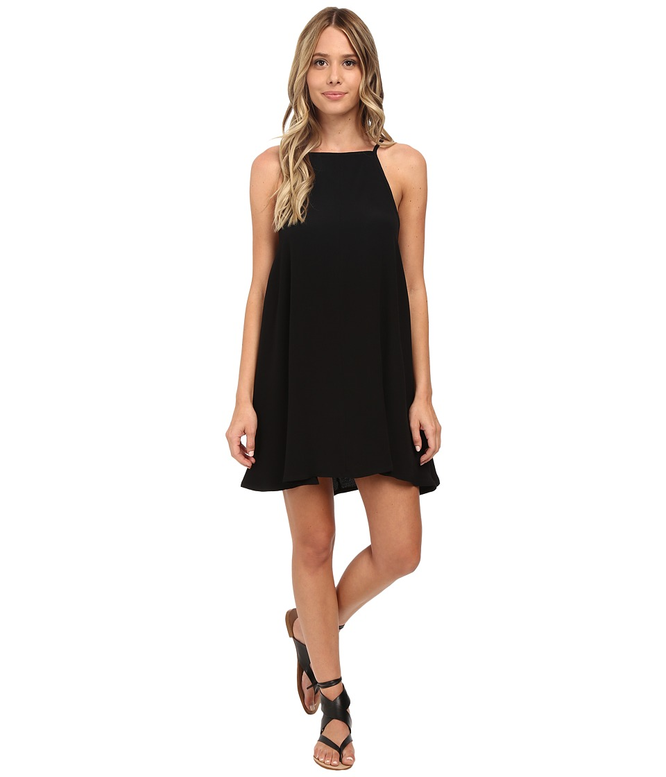 MINKPINK - Crepe Apron Neck Swing Dress (Black) Women's Dress