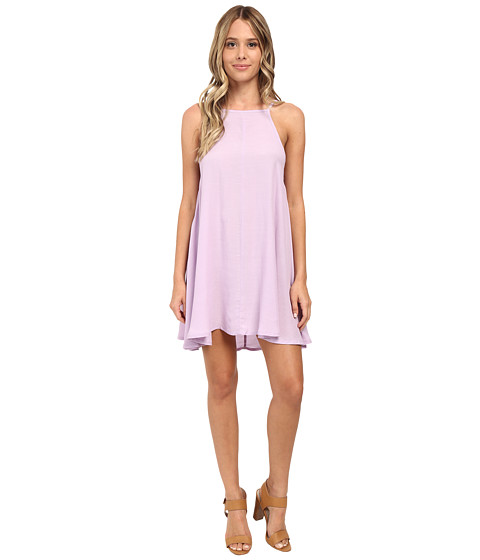 MINKPINK - Crepe Apron Neck Swing Dress (Lilac) Women