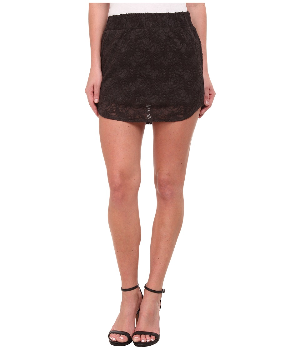 Chaser - Stretch Lace Mini Skirt (Vintage Black) Women