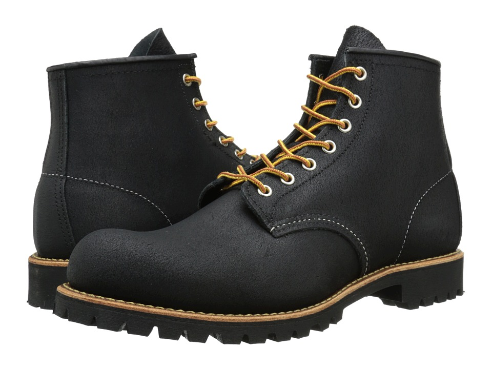 Red Wing Heritage - 6 Round Toe Lug (Black Spitfire) Men's Lace-up Boots