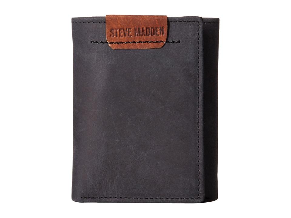 Steve Madden - Tab Trifold (Black) Bags