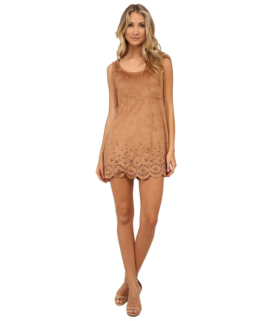 MINKPINK - Lackawanna Blues Dress (Tan) Women