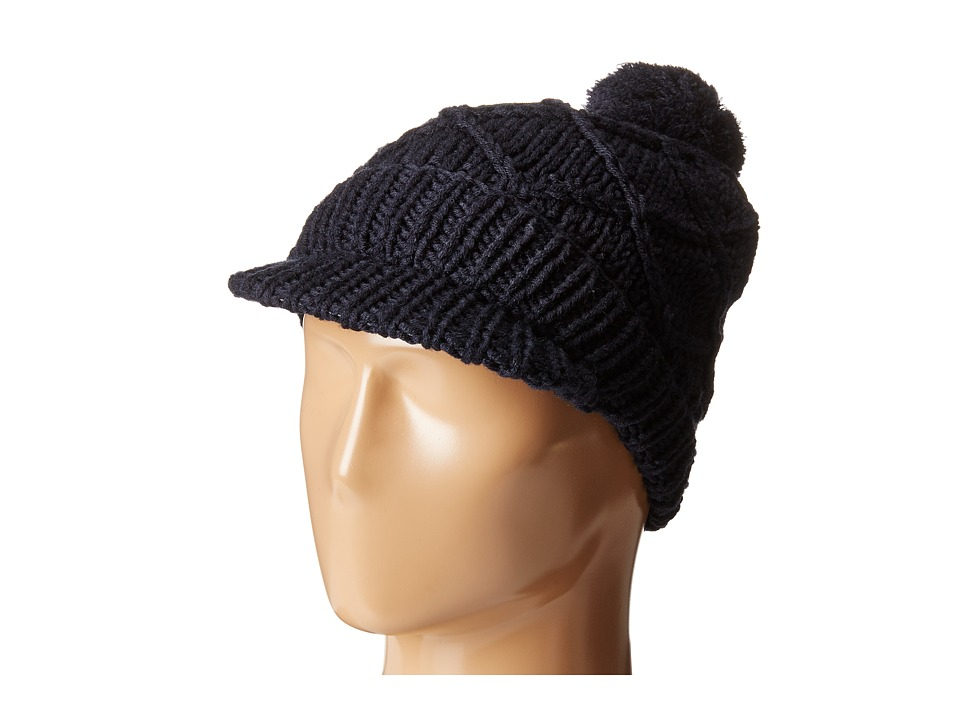 Hat Attack - Knit Cap with Pom (Black 1) Caps