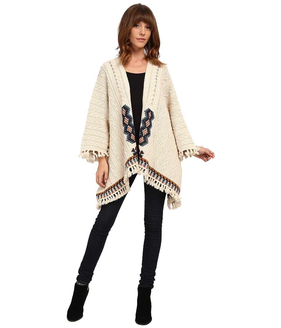 Chaser - Knit Fringed Kimono Sweater (Campfire) Women's Sweater