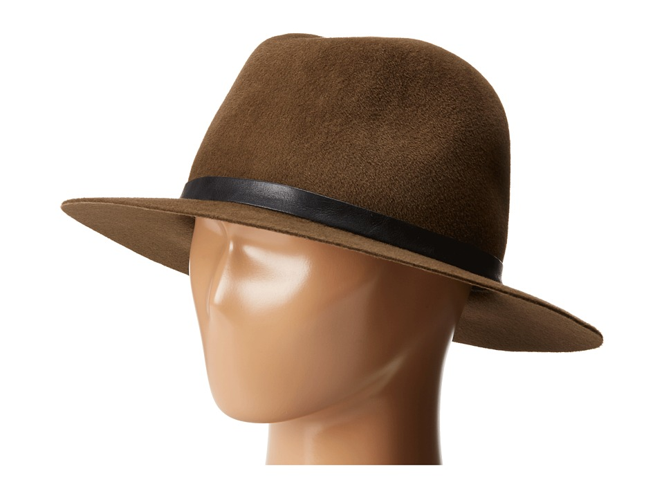 Hat Attack - Velour Luxury Classic Fedora (Brown/Brown Buckle Band) Fedora Hats
