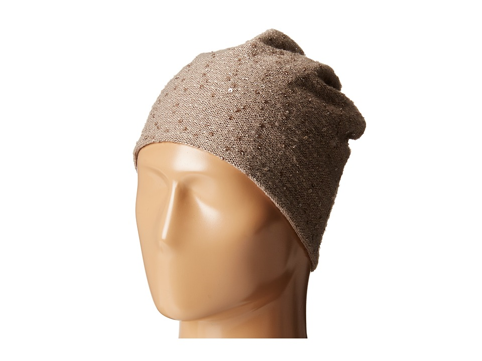 Hat Attack - Sequin Slouchy (Taupe 1) Beanies