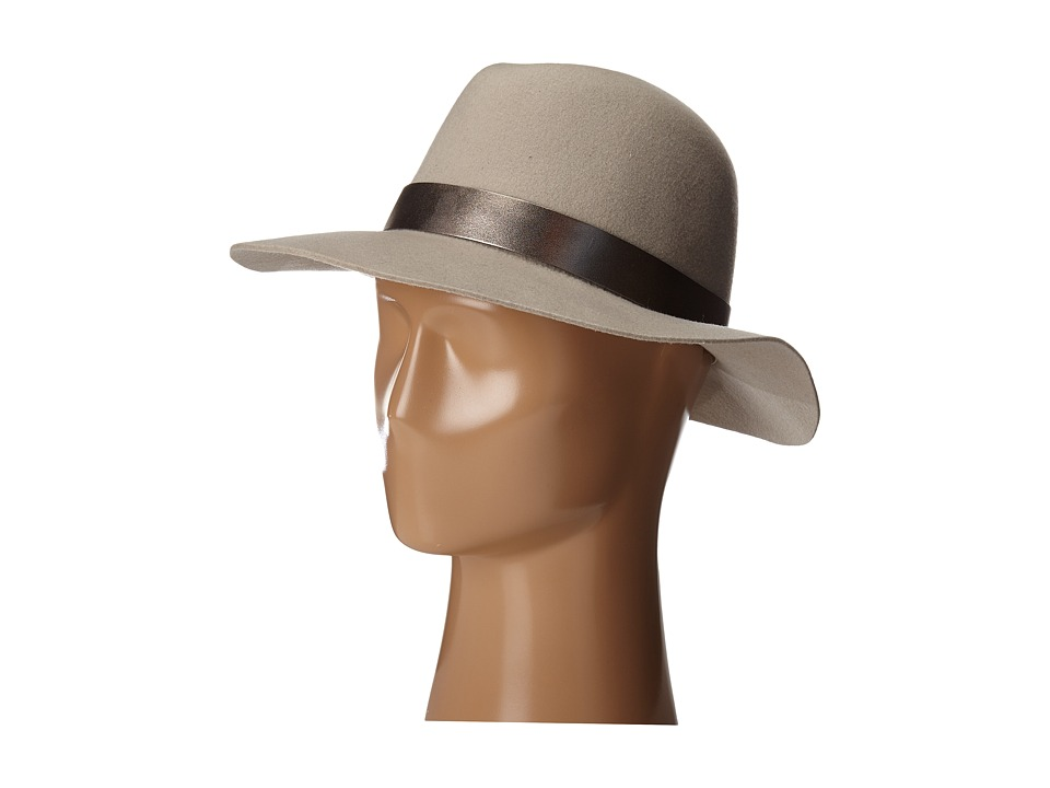 Hat Attack - Wool Felt Original Medium Brim (Beige/Metallic X Band) Traditional Hats