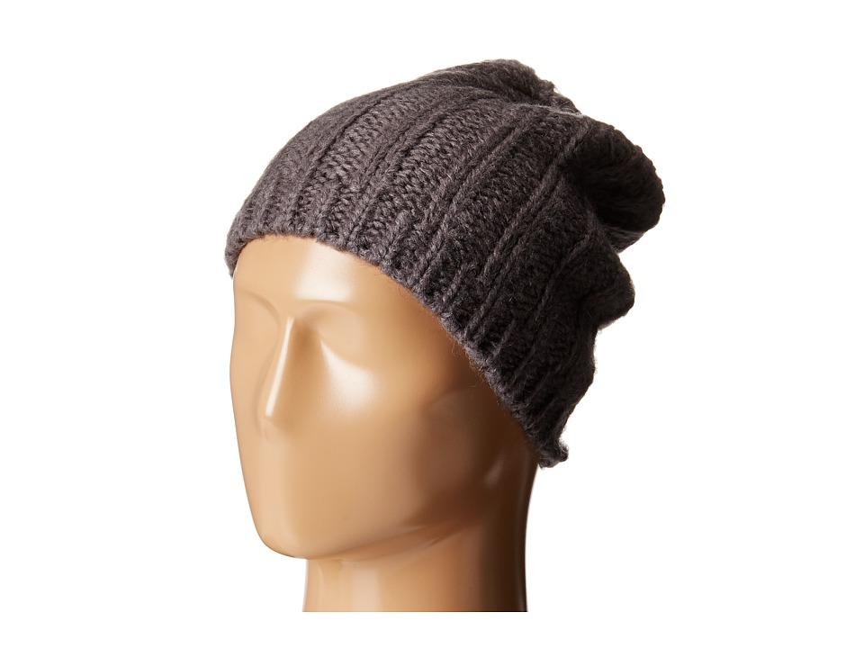 Hat Attack - Rib Slouchy Beret (Charcoal) Berets