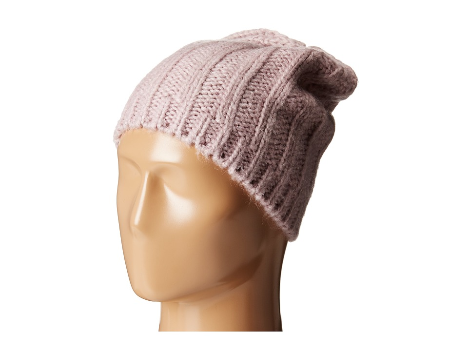 Hat Attack - Rib Slouchy Beret (Lavender) Berets