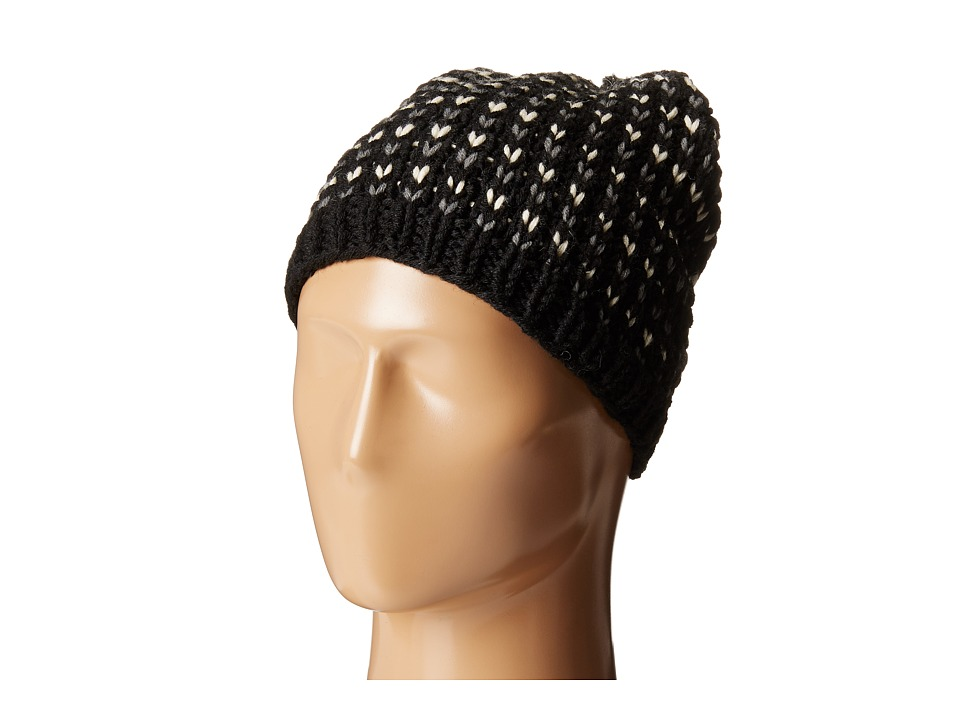 Hat Attack - Birdseye Beanie with Pom (Black) Beanies