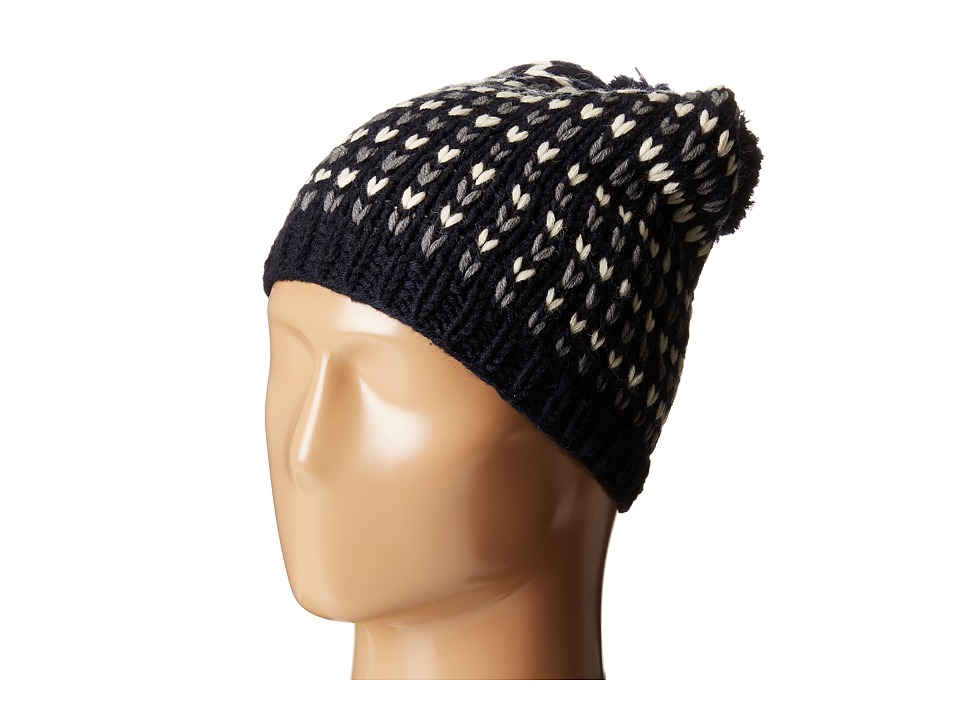 Hat Attack - Birdseye Beanie with Pom (Navy) Beanies