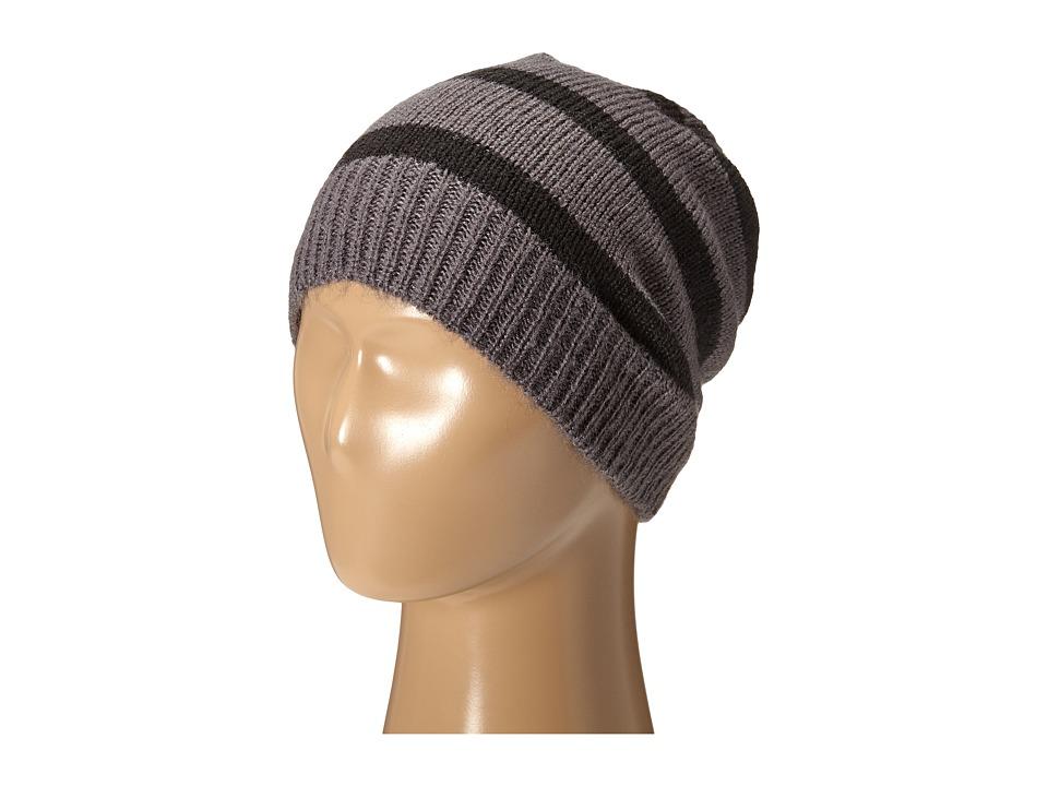 Hat Attack - Stripe Beanie (Grey/Black) Beanies