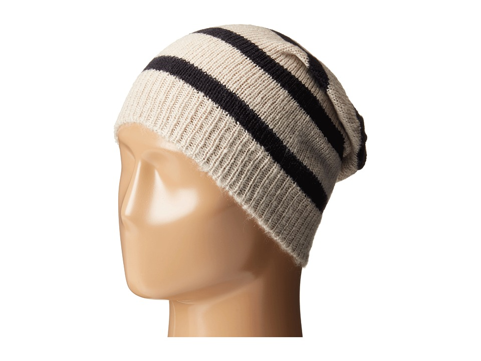 Hat Attack - Stripe Beanie (Wheat/Navy) Beanies