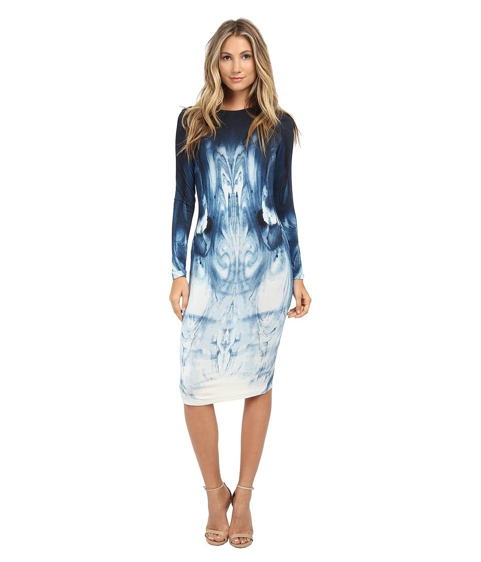 Young Fabulous & Broke - Rudy Dress (Autumn Blue Swirl Print) Women