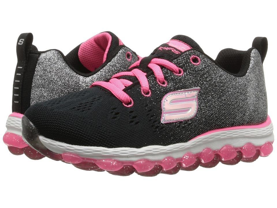 SKECHERS KIDS - Skech Air Ultra 80035L (Little Kid/Big Kid) (Black/Neon Pink) Girl's Shoes