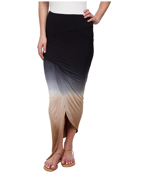 Young Fabulous & Broke - Sassy Skirt (Black/Tan Ombre) Women's Skirt