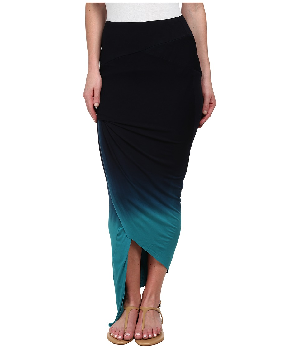 Young Fabulous & Broke - Sassy Skirt (Navy/Teal Ombre) Women's Skirt