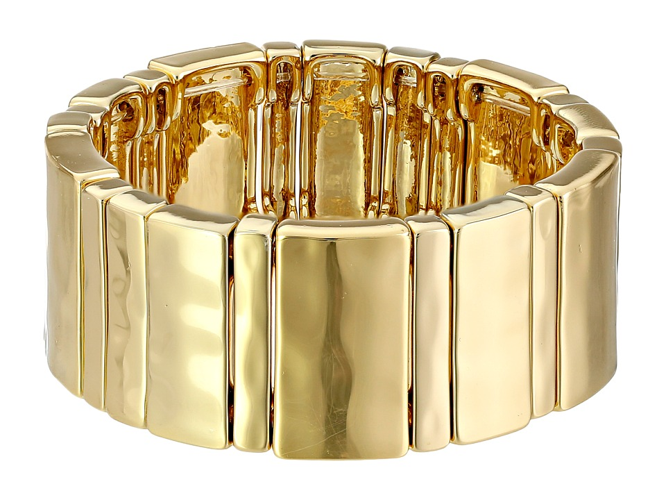 LAUREN by Ralph Lauren - Multi Size Bar Stretch Bracelet (Gold) Bracelet