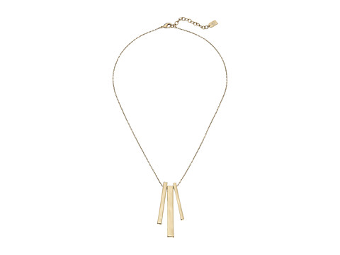 LAUREN by Ralph Lauren - 36 in Metal Chain Bar Pendants with Lobster Closure Necklace (Gold) Necklace