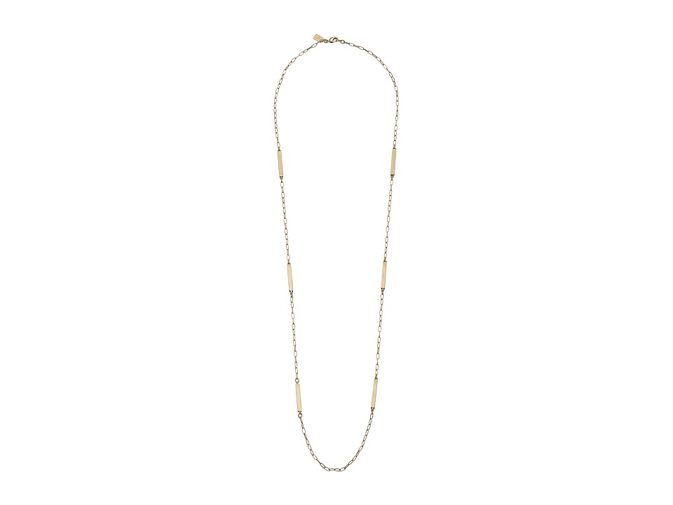 LAUREN by Ralph Lauren - 36 in Metal Bar Illusion with Lobster Closure Necklace (Gold) Necklace