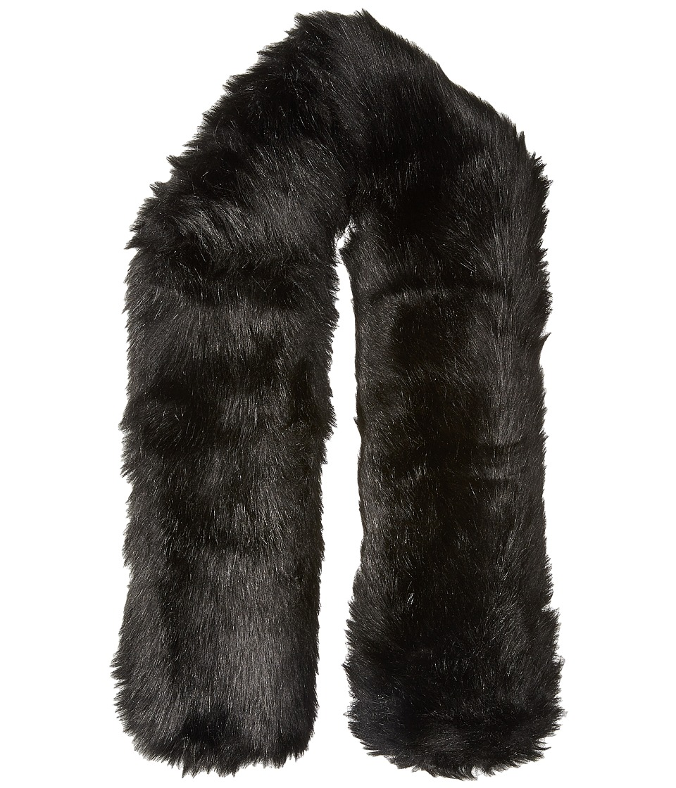 Hat Attack - Faux Fur Long Collar (Black 1) Scarves