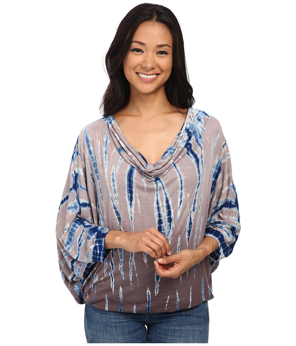 Young Fabulous & Broke - Swing Top (Navy Rain Ombre) Women's Blouse
